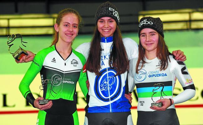 La ciclista cadete Garazi Estebez, campeona de la Challenge Bioracer