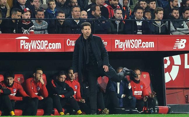 Simeone: «El Sevilla fue mejor y más contundente que nosotros»
