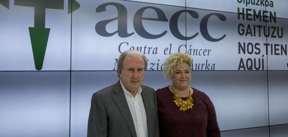 La AECC de Gipuzkoa atendió el pasado año a 988 enfermos de cáncer y familiares, un 30% más que en 2016