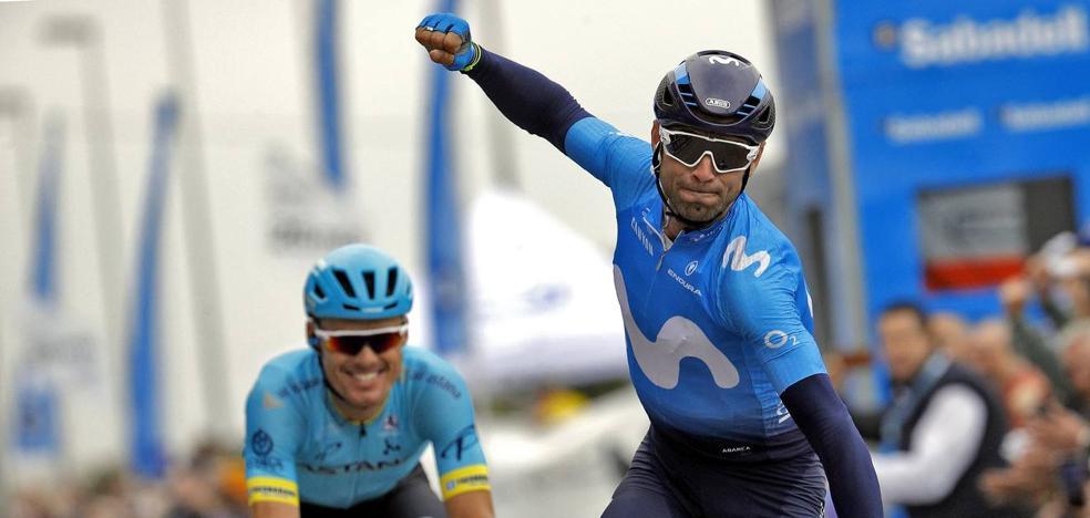 Alejandro Valverde se viste de amarillo en Valencia tras ganar la etapa