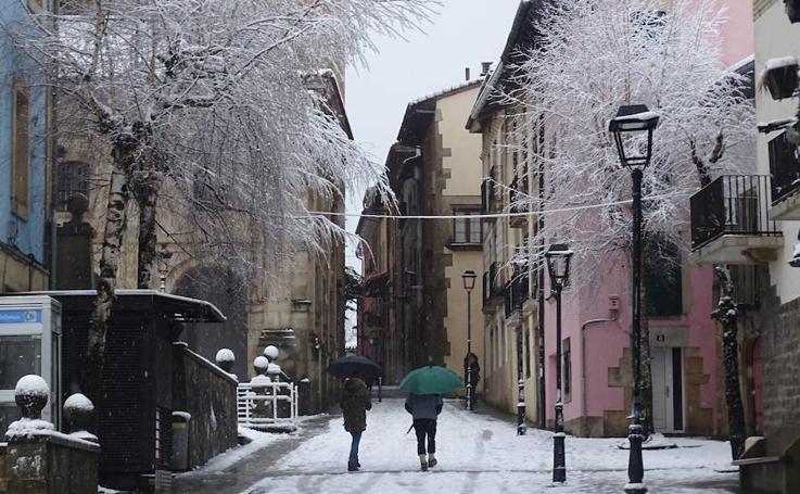 Bajas temperaturas y nieve en Gipuzkoa