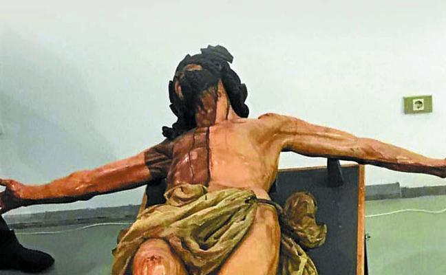 El Cristo de la Agonía se exhibirá durante tres días en Donostia tras su restauración