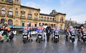 Donostia incorpora seis motos eléctricas a su parque móvil