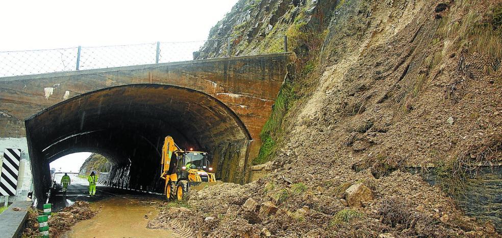 Las lluvias provocan 50 desprendimientos desde el inicio del año en Gipuzkoa