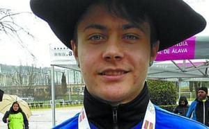 Adrián Pajares, campeón de Euskadi de cross