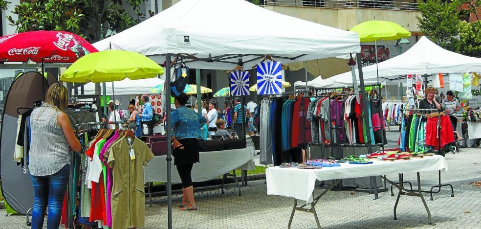 El Mercado Outlet ocupará la plaza de Amaia este fin de semana