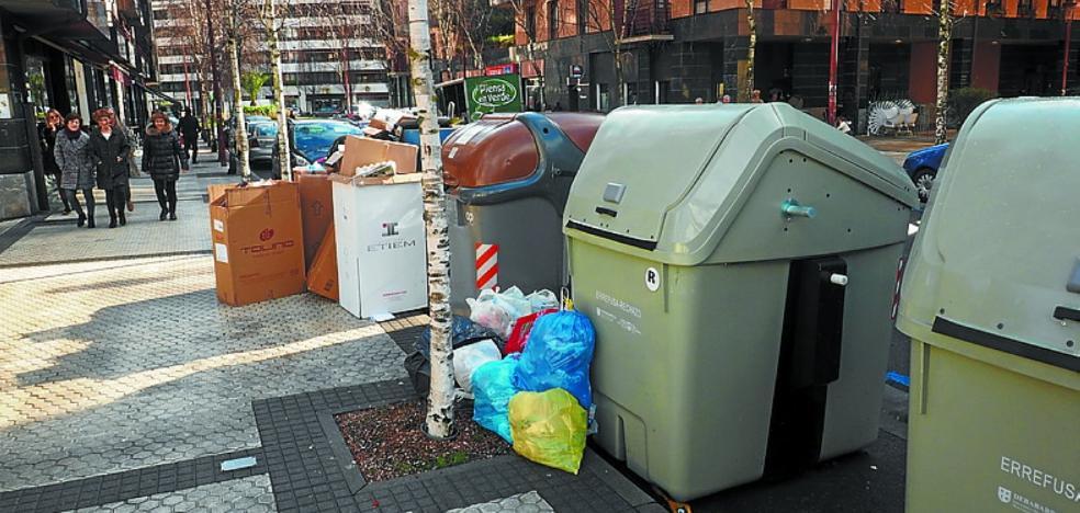 EH Bildu detecta deficiencias en el nuevo sistema de recogida de basuras