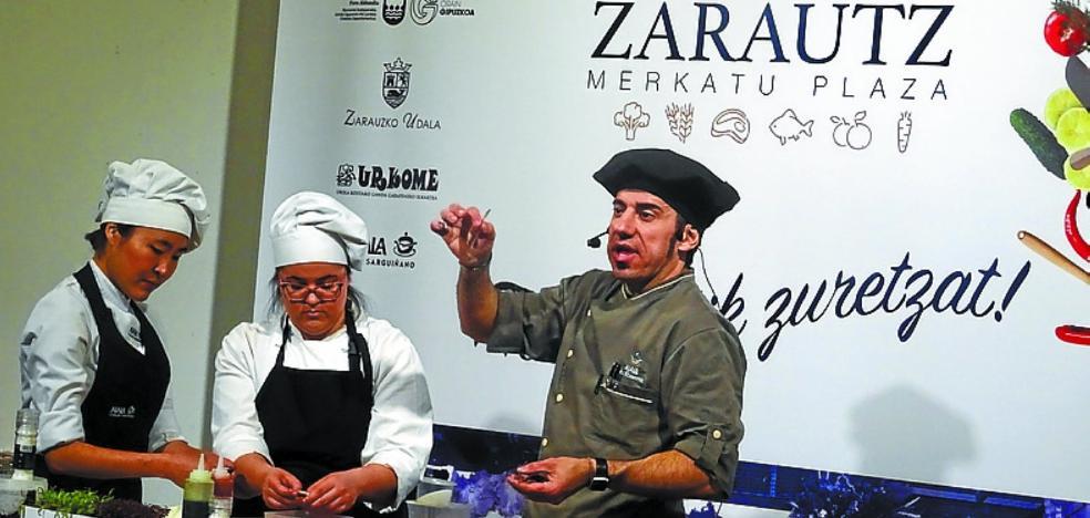 El cordero, protagonista esta mañaña de la iniciativa 'Merkatutik Zuretzat!'