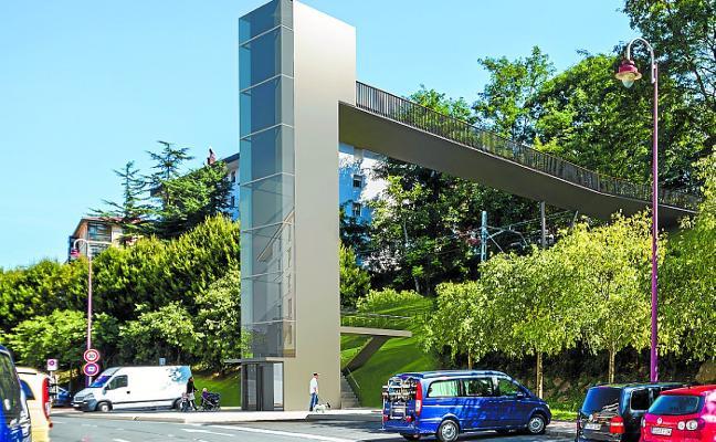 Comienzan las obras para construir el ascensor urbano de Azken Portu Goia