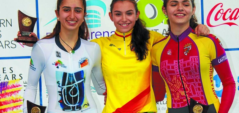 La ciclista cadete Garazi Estebez, campeona de la Copa de España