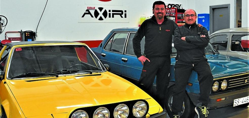 Azkoitiarras al VIII Rally de regularidad de vehículos clásicos Don Bosco