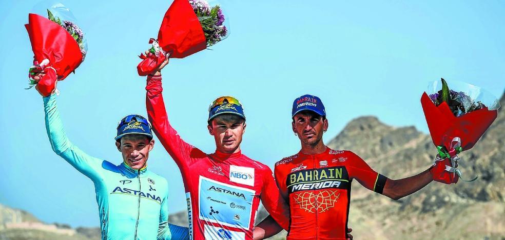 Gorka Izagirre, un podio final con susto en Omán