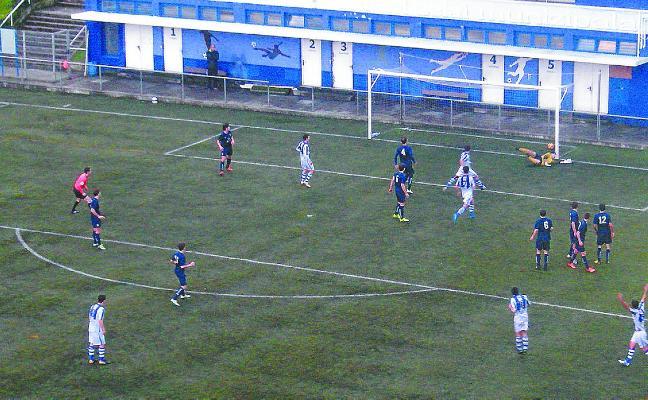 Ander Prieto logró los cuatro goles contra el Bergara