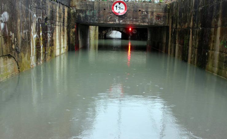 Inundaciones puntuales en Gipuzkoa