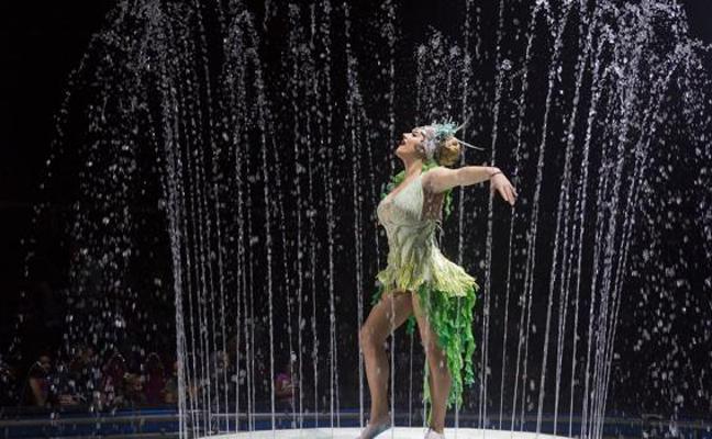 El Circo Alegría estrena hoy en Donostia su espectáculo sobre agua