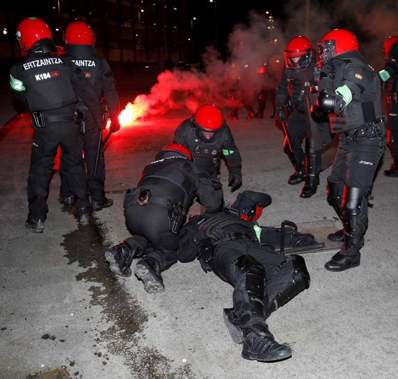 El Gobierno Vasco defiende que el dispositivo de seguridad de San Mamés estuvo «muy bien organizado»