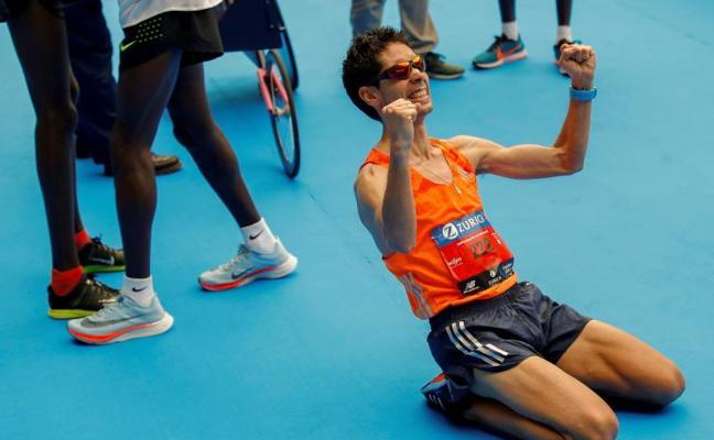 Javi Guerra y el Unión Guadalajara, campeones de España de maratón y cross