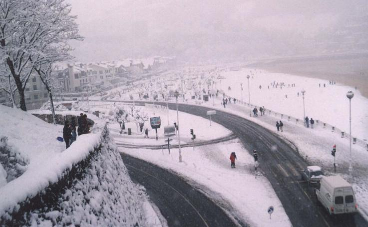 Aquella nevada de 1996 en San Sebastián