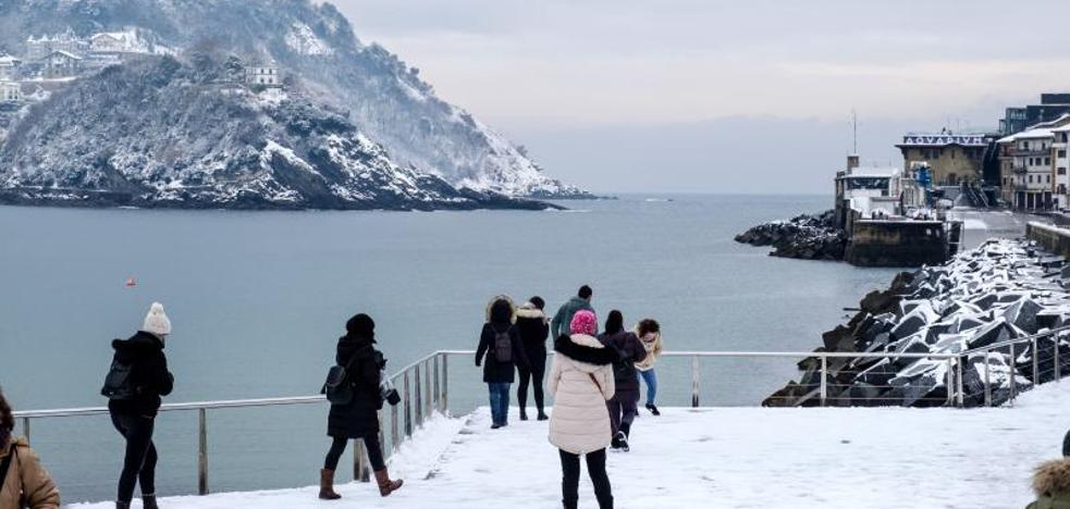 «En la costa ha nevado más de lo que esperábamos», dice Aemet
