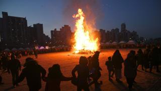 Corea arde con el año nuevo lunar