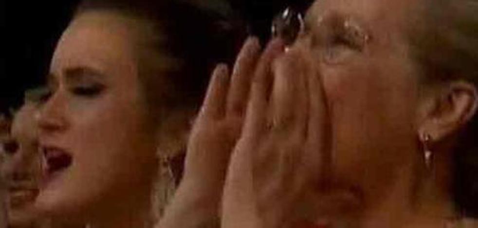 Meryl Streep, a voces entre el público de los Oscar