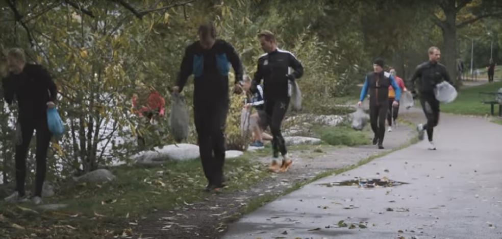 'Plogging': corre en verde