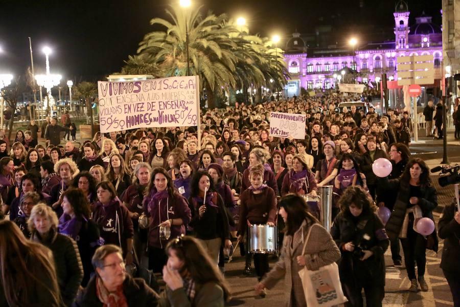 Manifestaciones multitudinarias para cerrar el Día de la Mujer en Gipuzkoa