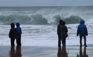 Aviso amarillo por olas para mañana en Gipuzkoa