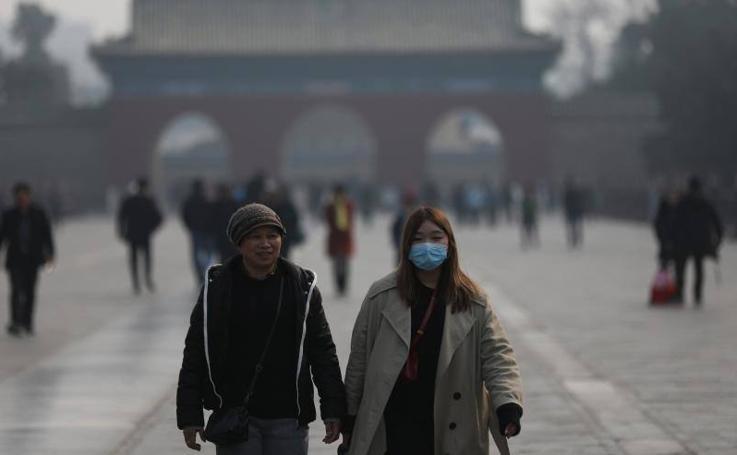 Alerta naranja por contaminación en Pekín