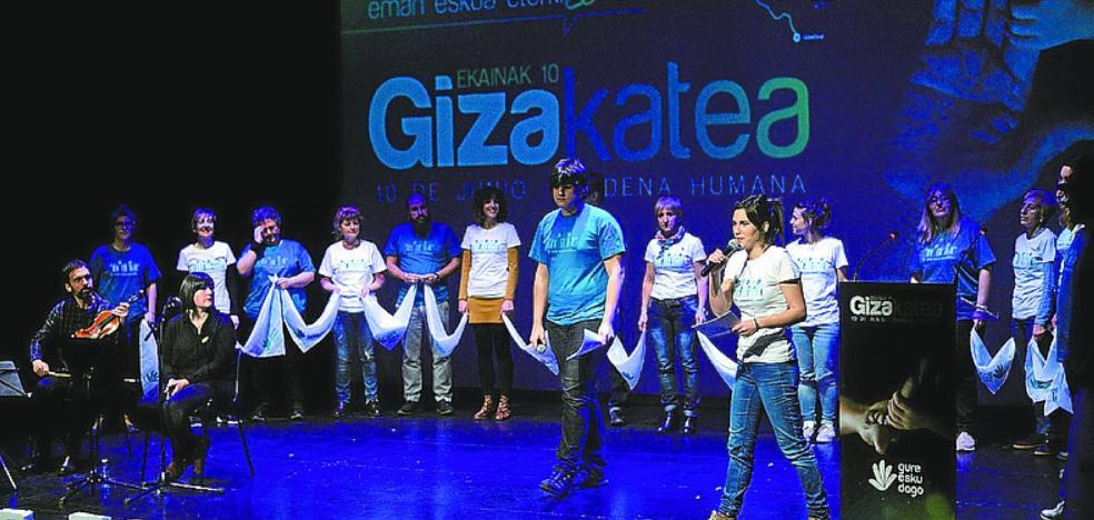 Gure Esku Dago presentó la cadena humana del 10 de junio