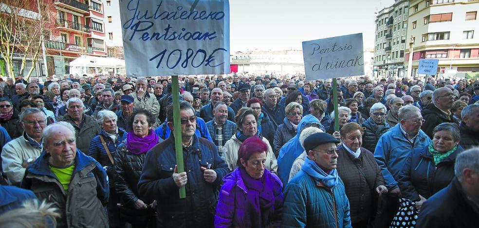 Los pensionistas vascos mantienen el pulso