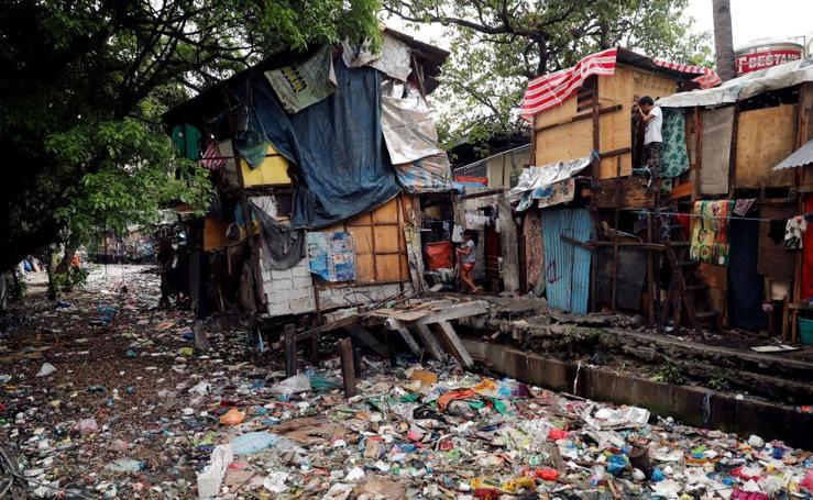 Ríos de basura en Manila