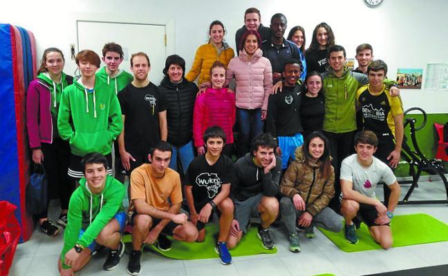 Visita de la atleta Ana Isabel Alonso
