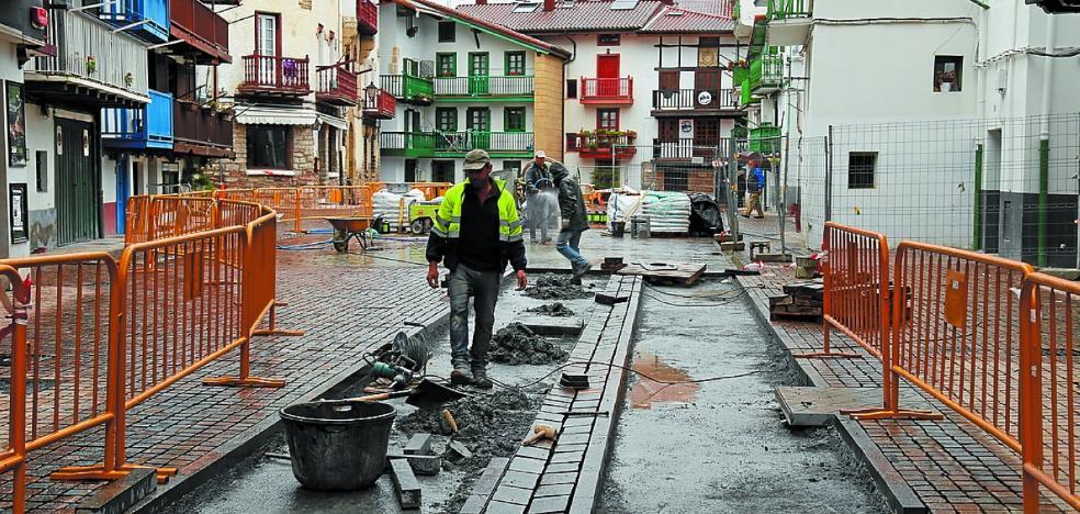 La obra de la calle Santiago cumple los plazos previstos y finalizará en junio