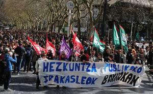 Miles de trabajadores de la enseñanza pública salen a la calle en otro día de huelga