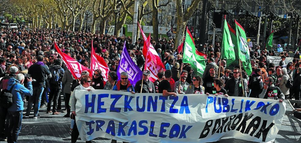 Educación y sindicatos no se mueven de sus posturas tras dos días de huelga