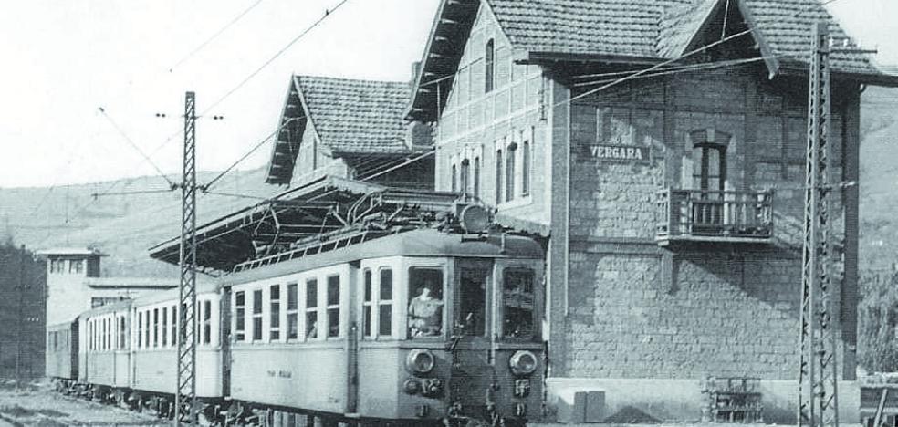 La desaparecida estación del tren de Bergara