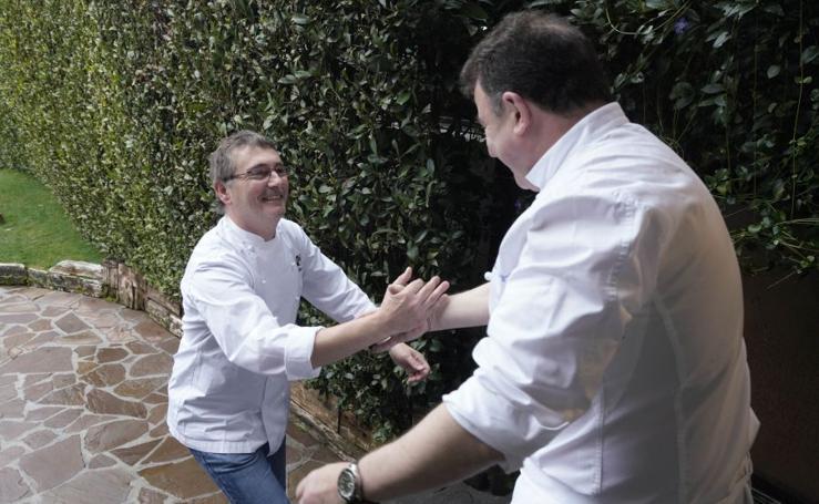 El reencuentro entre Aduriz y Berasategui