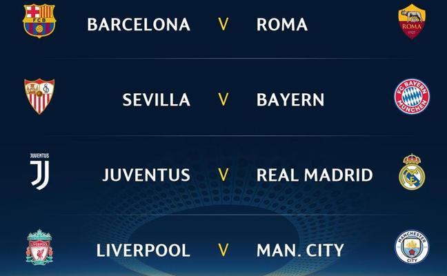 Juventus, Roma y Bayern, rivales de Madrid, Barça y Sevilla