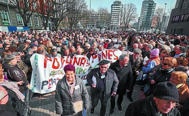 Los pensionistas buscan hoy una movilización sin precedentes por unas pensiones dignas
