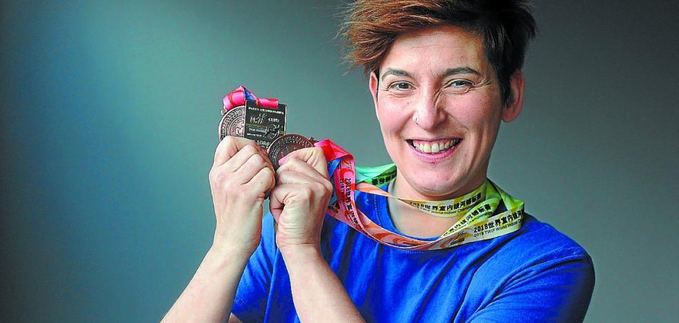 Sonia Archeli, Tiradora del Badaiotz de Vitoria de sokatira: «La sokatira es un deporte que requiere mucha técnica, es difícil hacerlo bien»