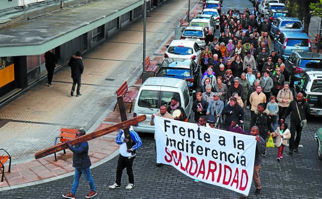 La Cruz de Lampedusa reunió a varias iglesias reivindicando a los inmigrantes