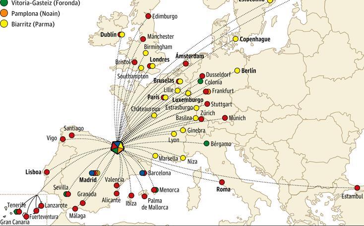 Consulta a qué destinos puedes viajar desde los aeropuertos más cercanos