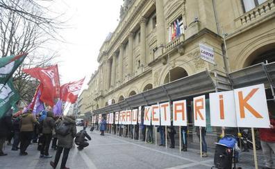 Una marcha, convocada en Donostia por ELA, LAB y CCOO, pide paralizar la incineradora
