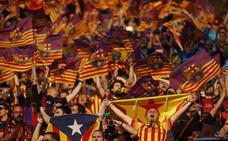 El TSJM confirma la prohibición de exhibir esteladas en la final de Copa