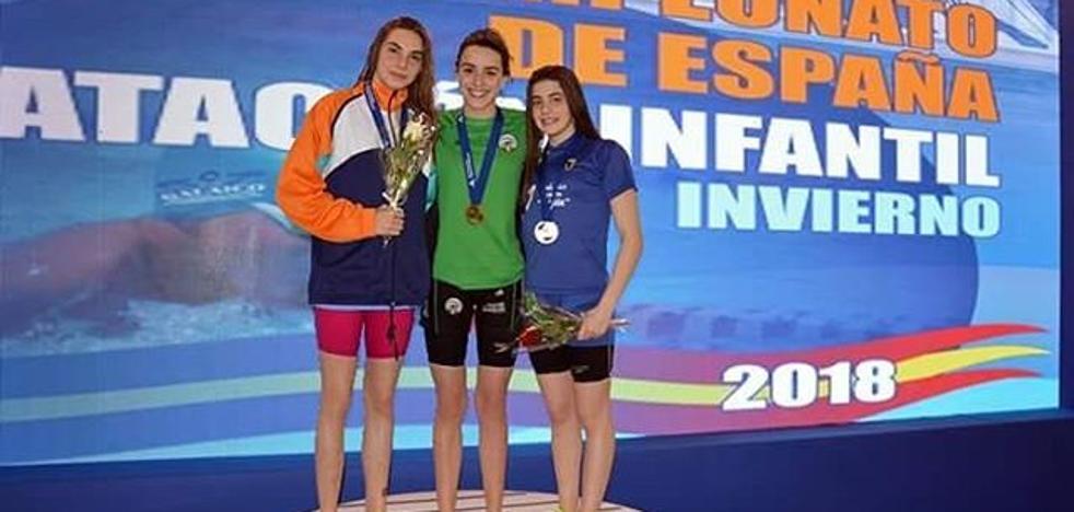 Ainhoa Martín, campeona de España infantil en 200 braza