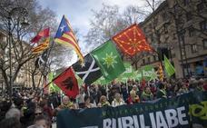La izquierda abertzale celebra su Aberri Eguna en Pamplona con Cataluña presente