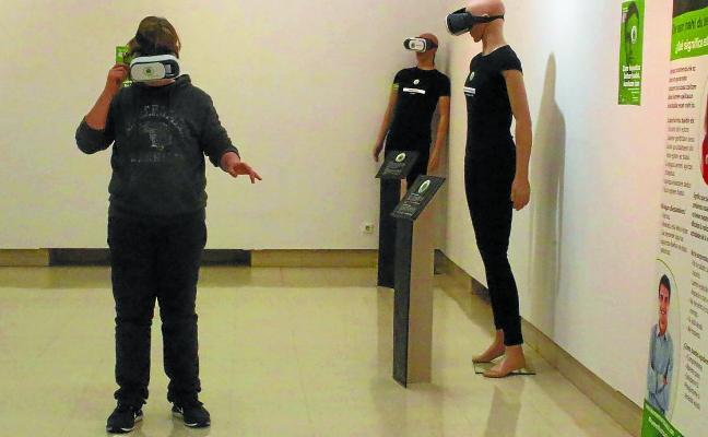 Último día para visitar la exposición en Biteri sobre la baja visión
