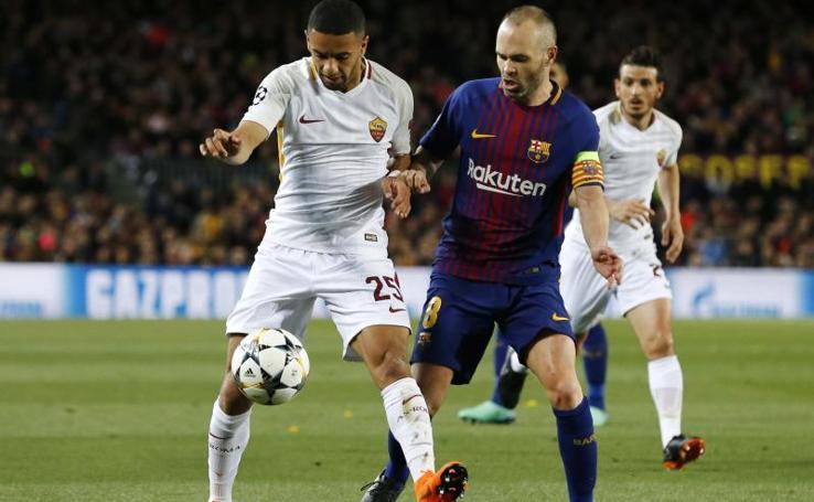 Las mejores imágenes del partido Barcelona-Roma