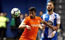 Adrián López alimenta la esperanza del Dépor y hunde al Málaga